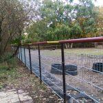 neuer Zaun Pferdestall