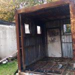 umgesetzter und bräumter Container