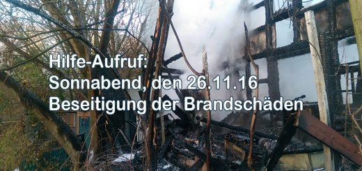 Hilfeaufruf nach Brand