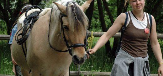 Mandy Kunkel führt unser Pferd