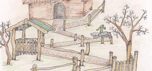 Skizze Zugang zum Hügel