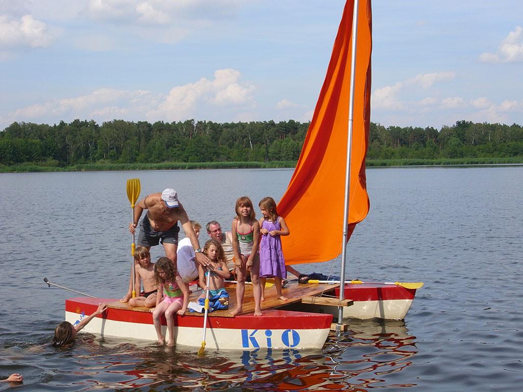 Ferienlager Bootsfahrt