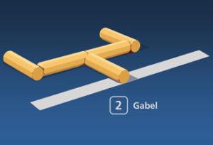 Gorodki Figur 2 Gabel
