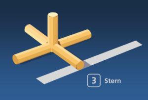 Gorodki Figur 3 Stern