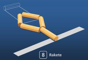 Gorodki Figur 8 Rakete