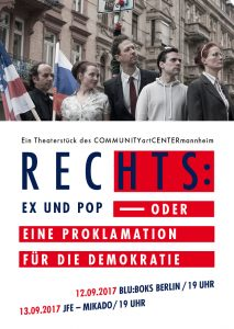 Plakat Polit-Theater - Rechts: Ex und Pop