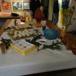 Kuchen und Gebäck auf dem Weihnachtsbuffet