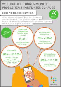 Notfalltelefonnummern für Groß und Klein