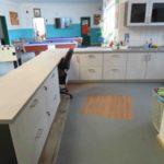 Fertig gebauter und vergrößerter Küchenbereich