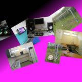 Fotocollage mit Küchen-, Studio,- und Fußballtorbildern