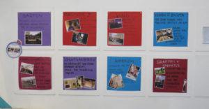Message-board mit unterschiedlichen Tagesangeboten